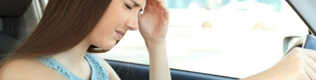 ból głowy u kierowcy auta