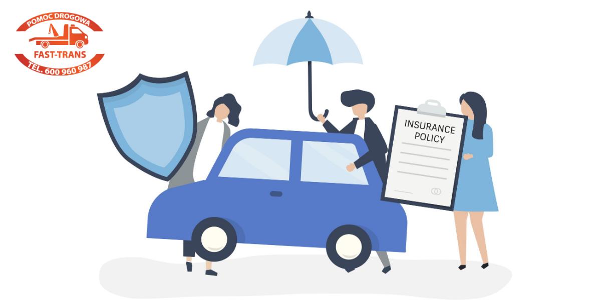 ochrona auta - grafika wektorowa